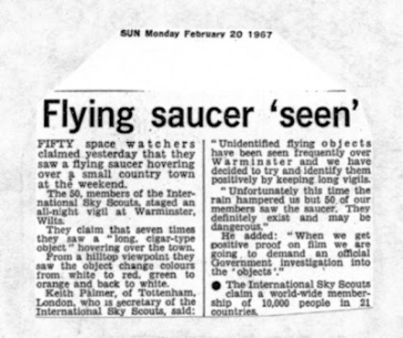 NEWSPAPER CLIPPINGS of ufo stories (19)