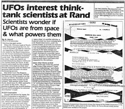 NEWSPAPER CLIPPINGS of  ufo stories (29)